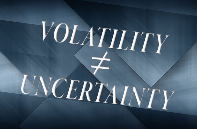 Don't Confuse Uncertainty With Volatility